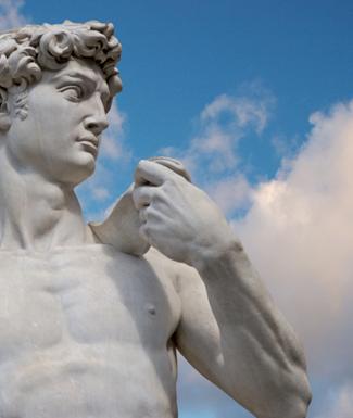 Michelangelo's statue David at the Piazza della Signoria