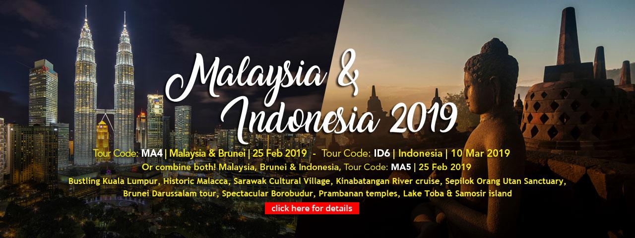 Malaysia, Brunei and Indonesia